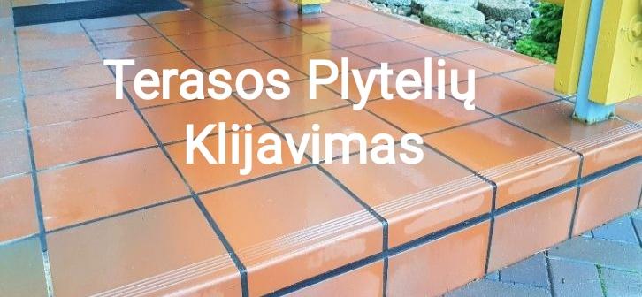 Terasų plytelių klijavimas 8602-87613 Terasų įrengimas kaune, Terasos kaina Kaune